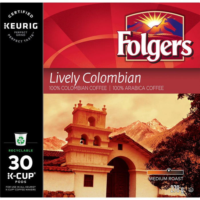 Folgers Lively Colombian K-Cup Coffee Pods 30 Each Folgers Couryah
