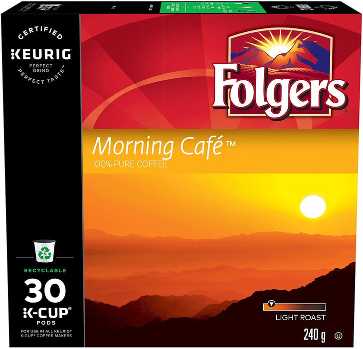 Folgers Morning Cafe K-Cup Coffee Pods 30 Each Folgers Couryah