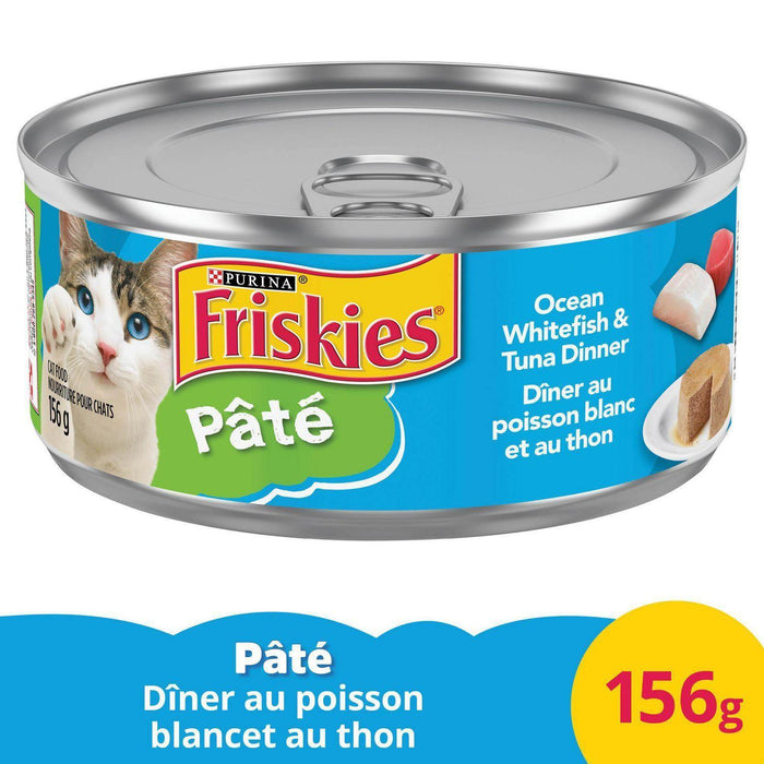 Friskies Pate Cat Food, Ocean Whitefish and Tuna Dinner 156g Friskies Couryah