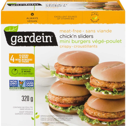 Gardein Crispy Chicken Sliders Mini Burgers (Meat-Free) 320 g Gardein Couryah