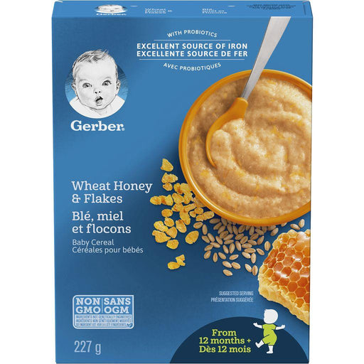 Gerber Baby Cereal Wheat Honey & Flakes 227g Gerber Couryah