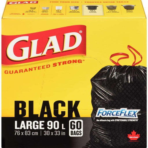 Glad Black Large 60 Trash Bags 90L Glad Couryah