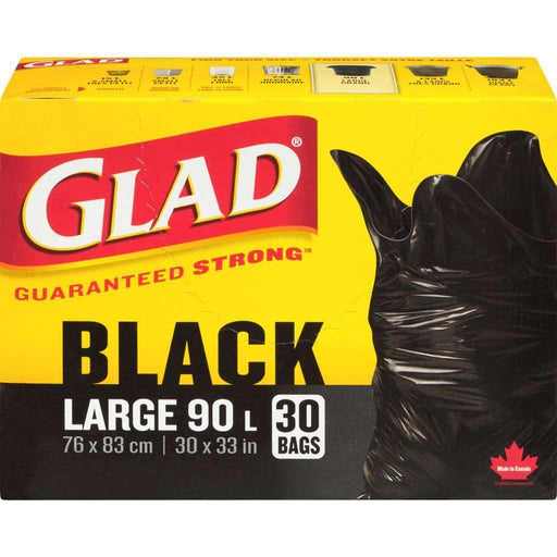 Glad Black Large 30 Trash Bags 90L Glad Couryah