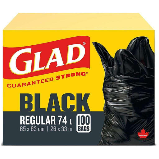 Glad Black Regular 100 Trash Bags 74L Glad Couryah