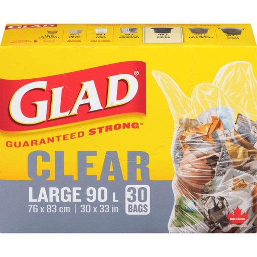 Glad Clear Regular 30 Trash Bags 90L Glad Couryah