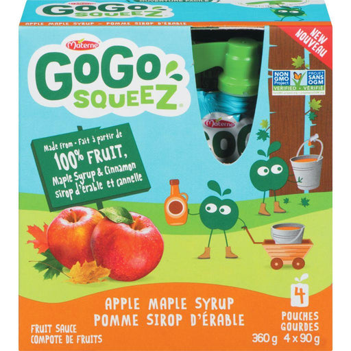 Gogo Squeez Apple Maple Syrup Sauce Pouches (4 x 90 g) Gogo Squeez Couryah