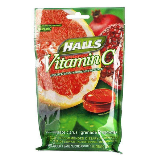 Halls Pomegranate Citrus - 25 Each Halls Couryah