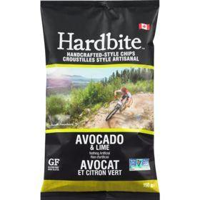 Hardbite Handcrafted-Style Chips, Avocado & Lime 150 g Hardbite Couryah