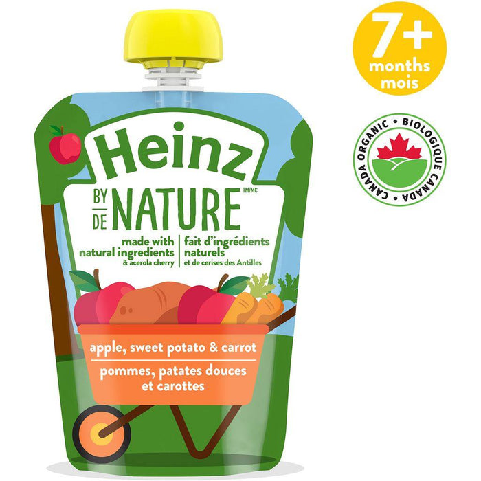 Heinz By Nature Pouch Apple Sweet Potato & Carrot Purée 128mL Heinz Couryah