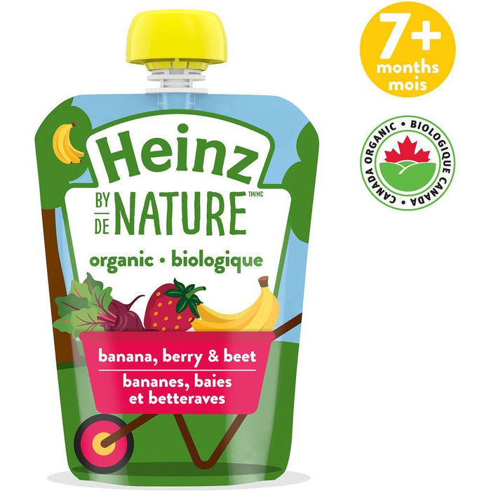 Heinz By Nature Pouch Banana Berry and Beet Purée 128mL Heinz Couryah