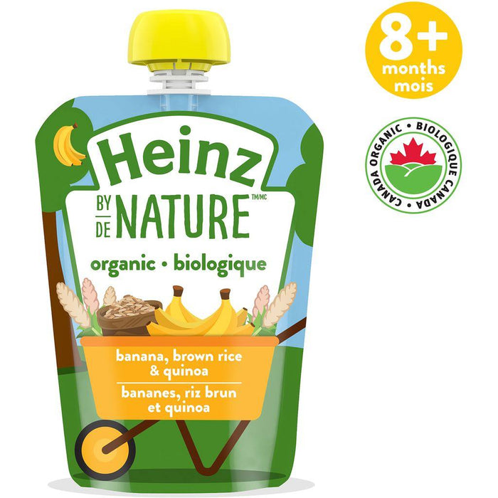 Heinz By Nature Pouch Banana Brown Rice & Quinoa Purée 128mL Heinz Couryah