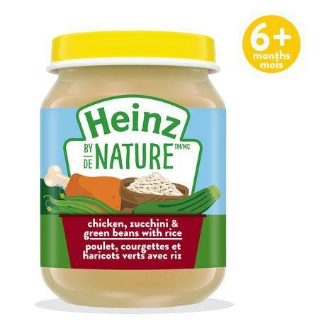 Heinz by Nature Chicken, Zucchini & Green Beans with Rice Purée 128 mL Heinz Couryah