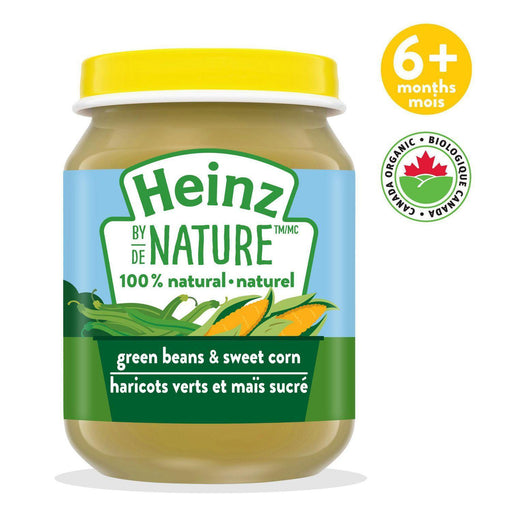 Heinz by Nature Green Beans and Sweet Corn Purée 128 mL Heinz Couryah