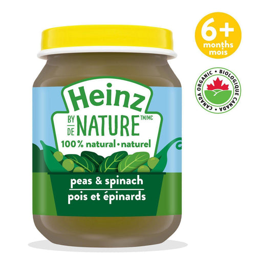 Heinz by Nature Peas & Spinach Purée 128 mL Heinz Couryah