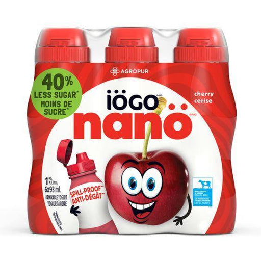 Iogo Nano Cherry Drinkable Yogurt 1% (6 x 93 mL) Iogo Couryah