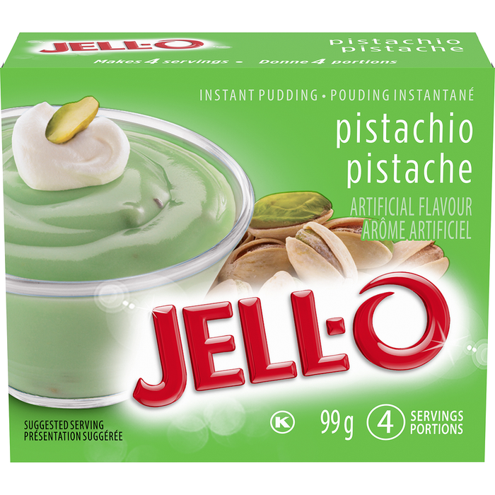 Jell-O Instant Pudding Mix, Pistachio (4 Servings) 99g
