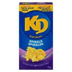 Kraft Dinner Macaroni & Cheese Spirals 175 g Kraft Couryah