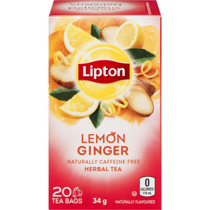 Lipton Lemon Ginger Herbal Tea 20 Each 34 g Lipton Couryah