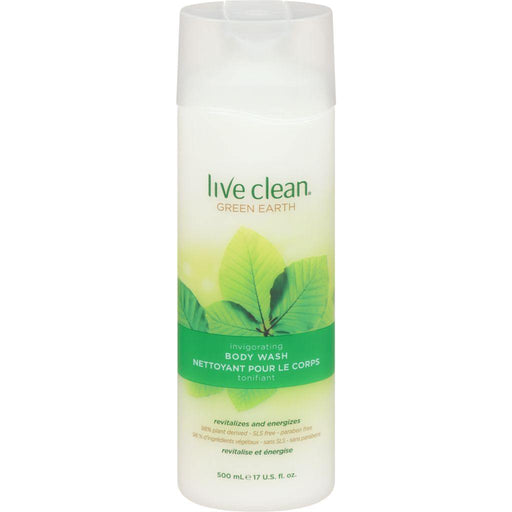 Live Clean, Green Earth Body Wash 500mL - COURYAH