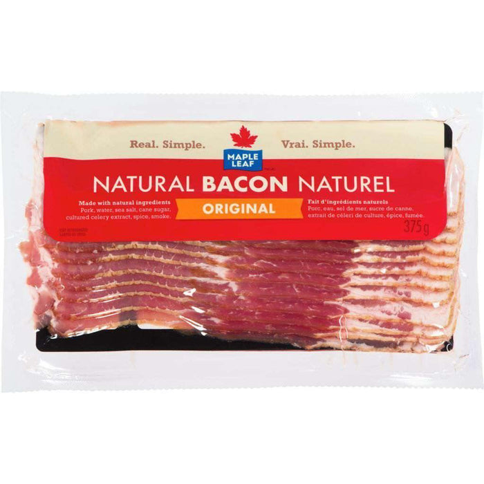 Maple Leaf Natural Original Bacon 375 g Maple Leaf Couryah
