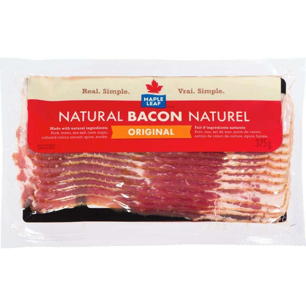 Maple Leaf Natural Original Bacon 375 g