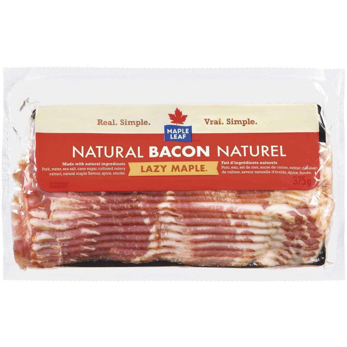 Maple Leaf Natural Lazy Maple Bacon 375 g Maple Leaf Couryah