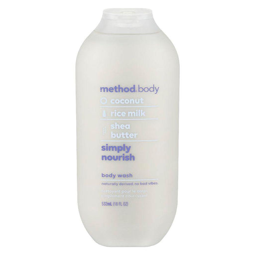 Method Body, Coconut + Rice Milk + Shea Butter Simply Nourish Body Wash 532mL - COURYAH