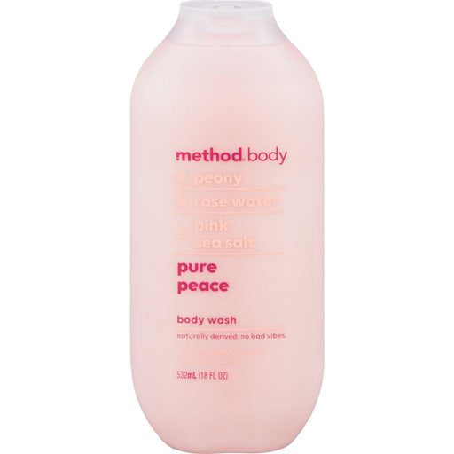 Method Body, Peony + Rose Water + Pink Sea Salt Pure Peace Body Wash 532mL - COURYAH