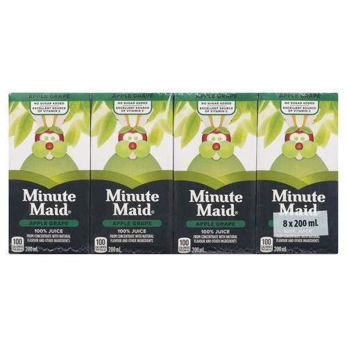 Minute Maid 100% Apple Grape Juice Boxes (8 x 200mL) Minute Maid Couryah