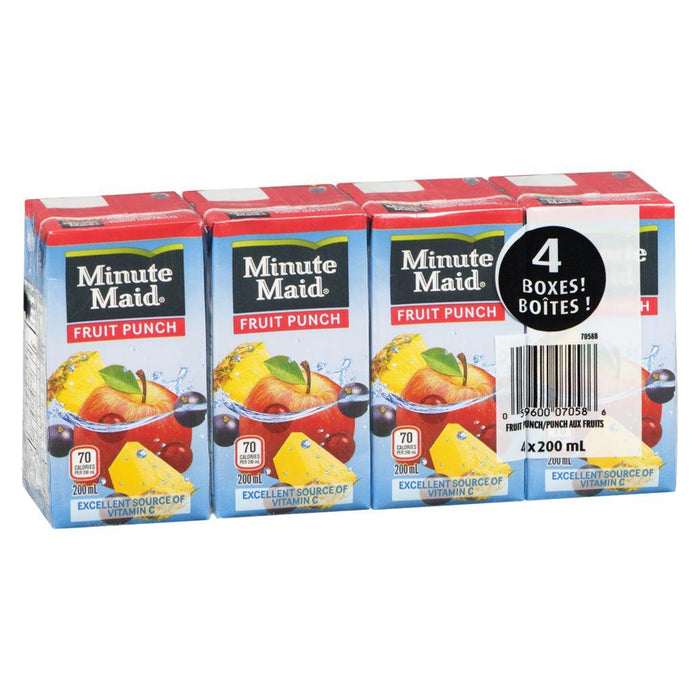 Minute Maid Fruit Punch Juice Boxes (4 x 200mL) Minute Maid Couryah