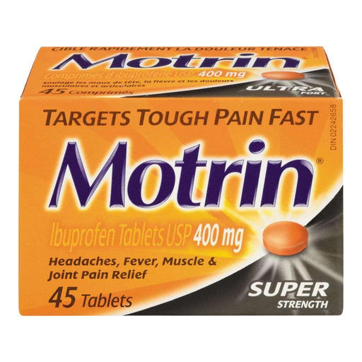 Motrin Ibuprofen Super Strength 45 Each - 400mg Motrin Couryah