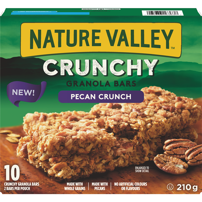 Nature Valley Crunchy Granola Bars, Pecan Crunch (10 Bars) 210g