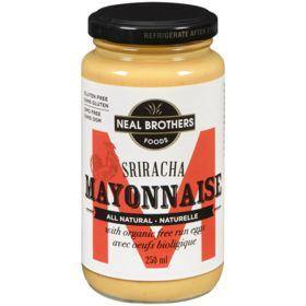 Neal Brothers Foods All Natural Sriracha Mayonnaise, With Organic Free Run Eggs 250 mL Neal Brothers Foods Couryah