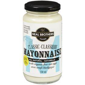 Neal Brothers Foods All Natural Classic Mayonnaise, With Organic Free Run Eggs 250 mL Neal Brothers Foods Couryah