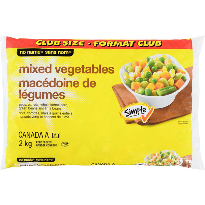 No Name Frozen Mixed Vegetables, Club Size 2kg