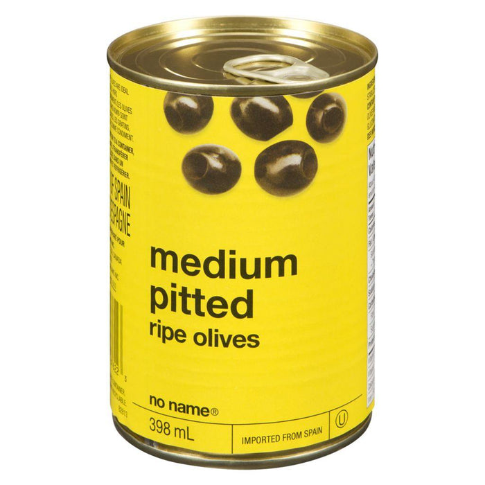 No Name Medium Pitted Ripe Black Olives 398 mL No Name Couryah