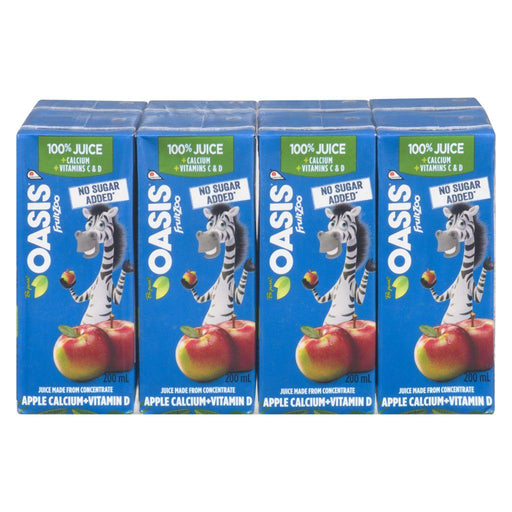 Oasis FruitZoo Apple Calcium + Vitamin D Juice Boxes, 8 x 200 mL Oasis Couryah