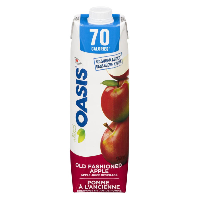 Oasis Old Fashioned Apple Juice, No Sugar Added (70 Calories) 960 mL Oasis Couryah