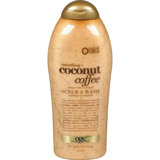 Ogx, Smoothing + Coconut Coffee Scrub & Wash 577mL - COURYAH