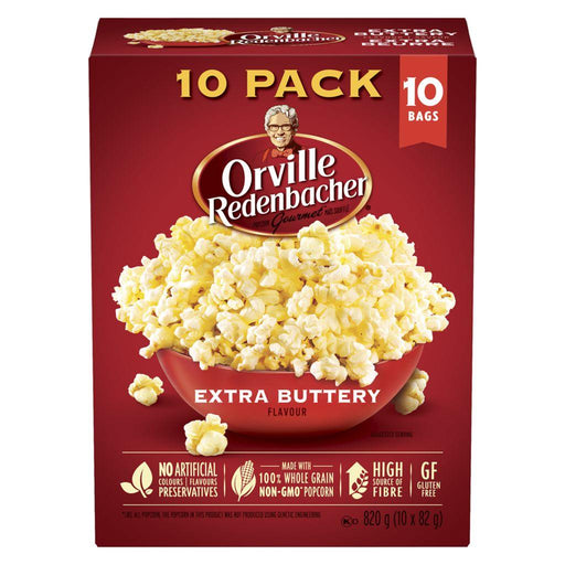Orville Popcorn Extra Buttery Flavour (10 x 82 g) Orville Couryah