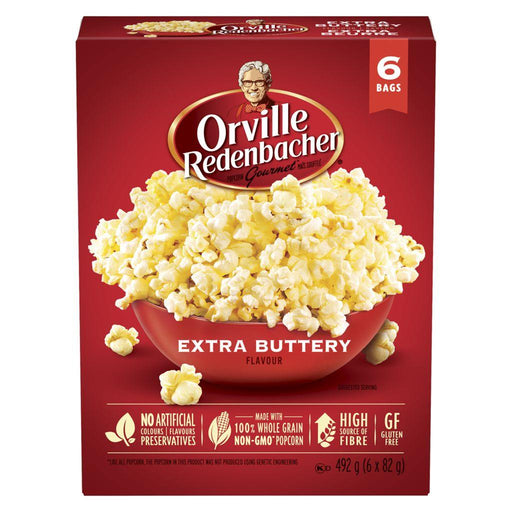 Orville Popcorn Extra Buttery Flavour (6 x 82 g) Orville Couryah