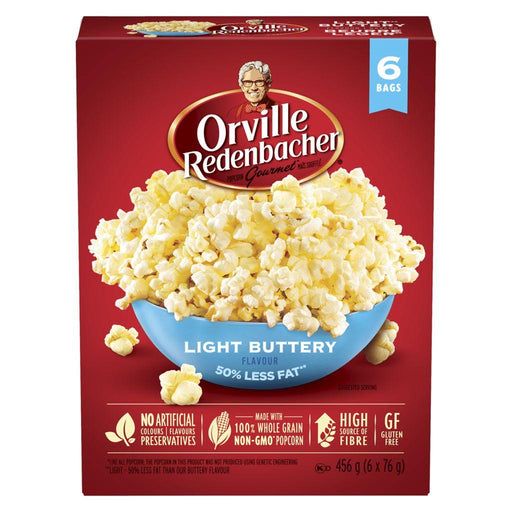 Orville Popcorn Light Buttery Flavour, 50% Less Fat (6 x 82 g) Orville Couryah