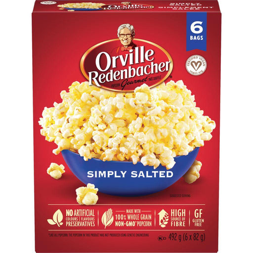 Orville Popcorn Simply Salted (6 x 82 g) Orville Couryah