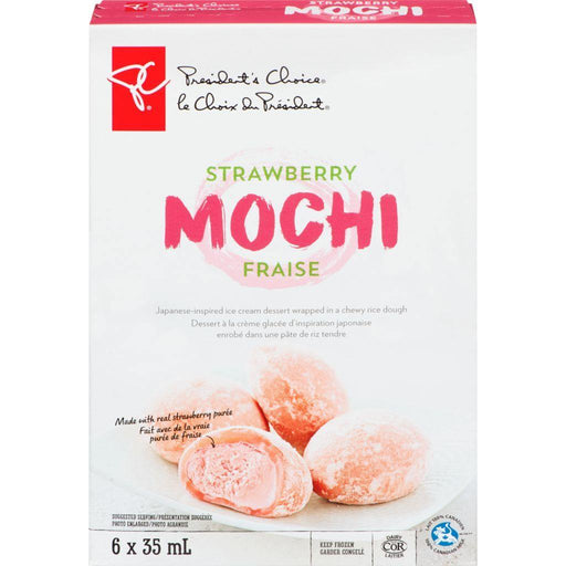 PC Strawberry Mochi Ice Cream (6 x 35mL) President's Choice Couryah