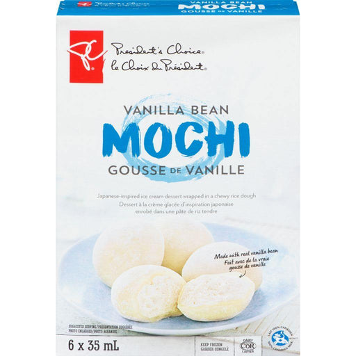 PC Vanilla Bean Mochi Ice Cream (6 x 35mL) President's Choice Couryah