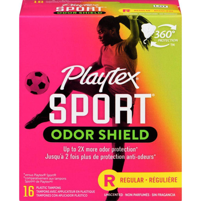 Playtex Sport Odor Shield Regular 16 Tampons Playtex Sport Couryah