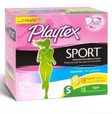 Playtex Sport Regular & Super Absorbency 36 Tampons