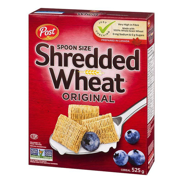 Post Shredded Wheat Original Cereal, Spoon Size 525 g Post Couryah
