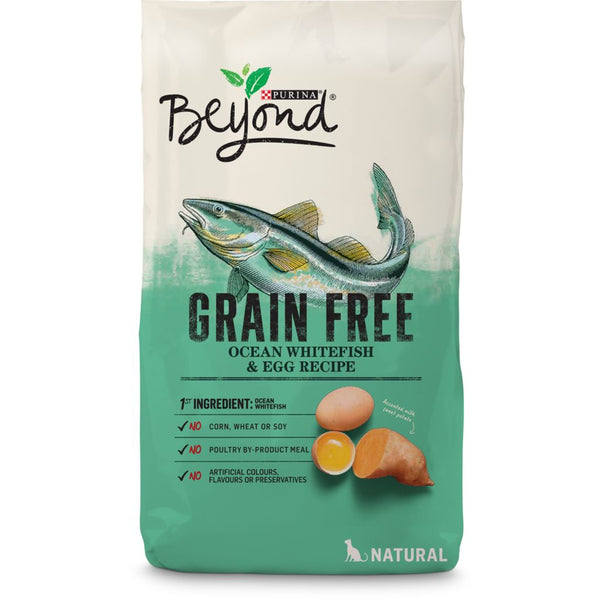 Purina Beyond Grain Free Natural Cat Food, Ocean Whitefish & Egg Recipe 1.36 kg