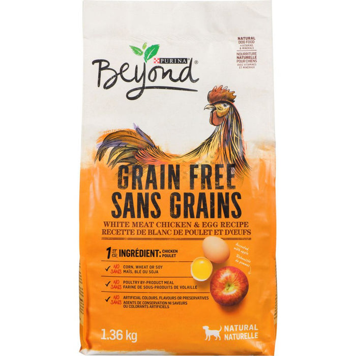 Purina Beyond Natural Dog Food, Grain Free, White Meat Chicken & Egg Recipe 1.36kg